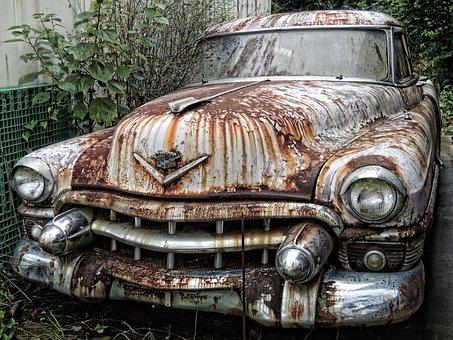 Car, Scrapped Vehicles, Scrap, Green