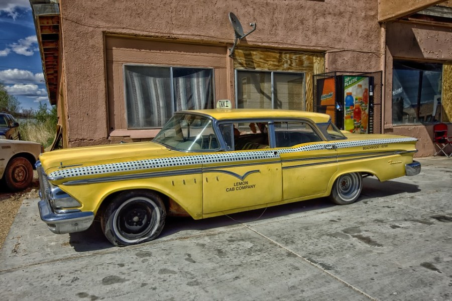 1958 ford cars » Edsel Ranger Taxi Cab Classic Car      Free photo on Pixabay edsel ranger taxi cab classic car car yellow taxi