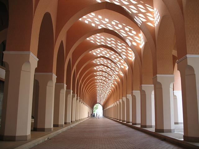 Mosque Arcade Corridor Free Photo On Pixabay