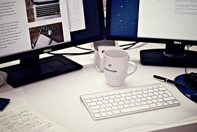 Workstation, Home Office, Computer, Tazza Di Caffè