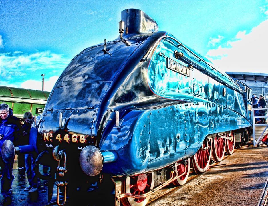 Locomotive, Mallard, Engine, Steam, Speed, World Record