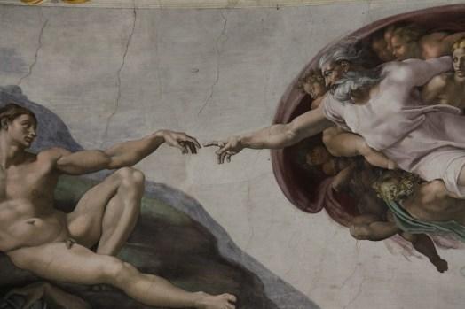 アダムの創造, 新鮮です, システィーナ礼拝堂, 塗装, Miguel の天使, バチカン市国, アート