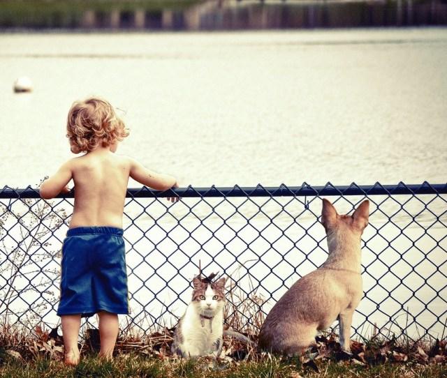Boy Kids Water Cute Joy Outdoor Lake River