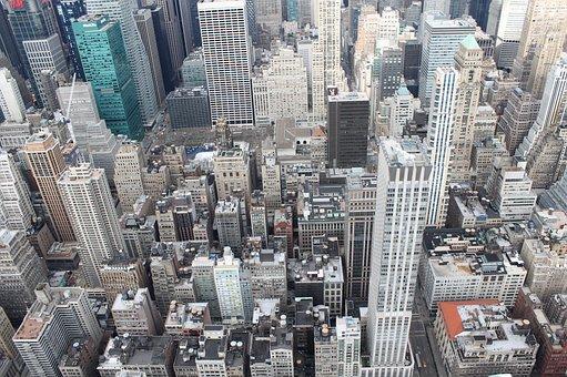 ew York, Buildings, Tall, Top ViewN