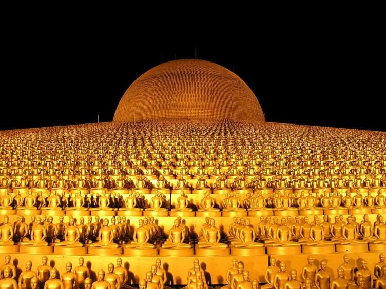 Dhammakaya Pagoda, Budha, Gold, Buddhism, Wat