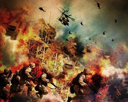 War, Soldiers, Warrior, Explosion, Guns