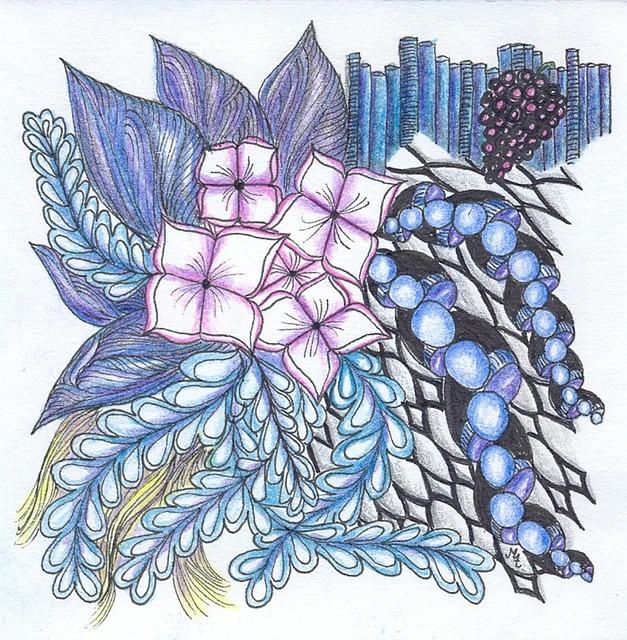 Zentangle Tangle Drawing Free Photo On Pixabay