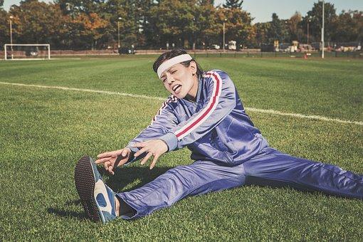 Stretching, Sports, Woman, Athlete