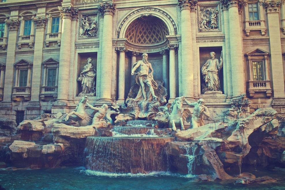 Trevi Fountain, Rome, Italy, Fontana Di Trevi, Fountain
