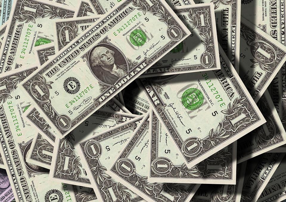 Dollar, 通貨, お金, Us-Dollar, フランクリン, 見える, 紙幣, 金融, ドル記号