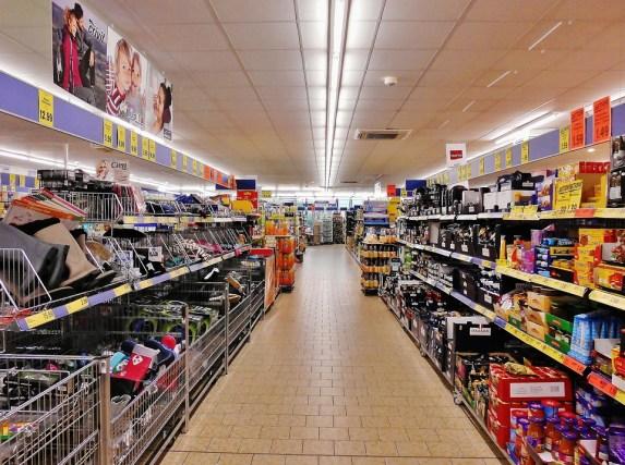 Supermercado, Estantería, Compras, Camino Real