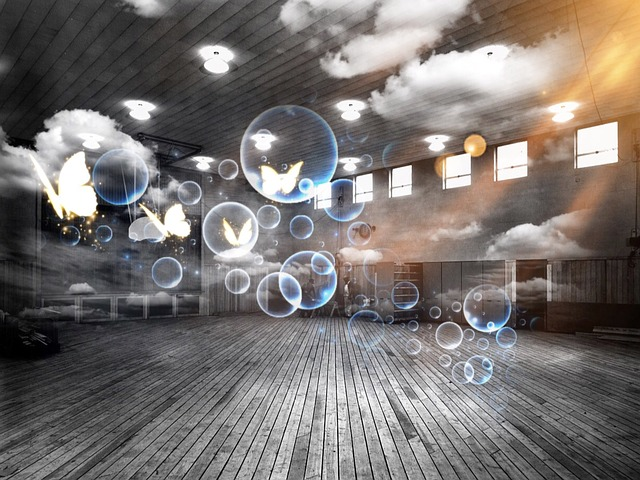 Sports Hall Soap Bubbles Surreal Free Photo On Pixabay