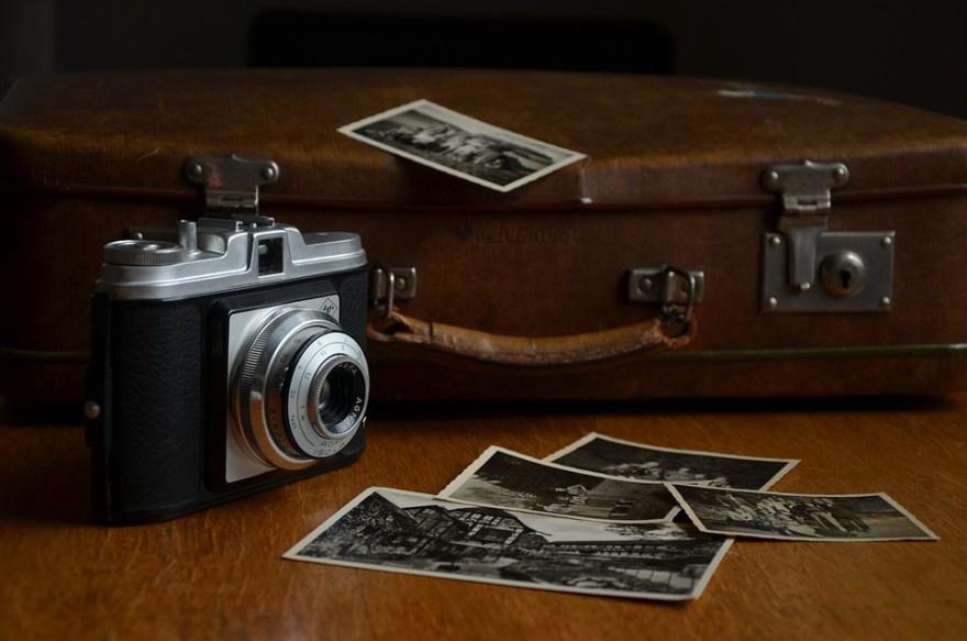 カメラ, 写真, ポラロイド写真, 紙写真, 画像, 旅行, ノスタルジア, 古い写真, アグファ, 荷物