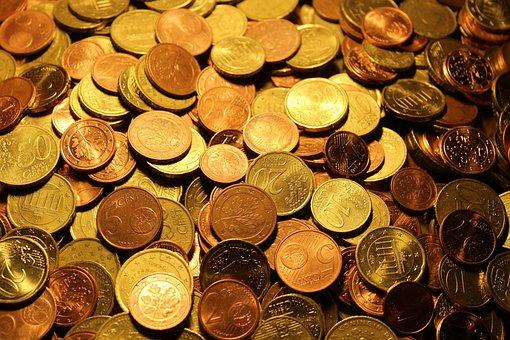 お金, コイン, ユーロ硬貨, 通貨, ユーロ, 金属, ルース ・ チェンジ