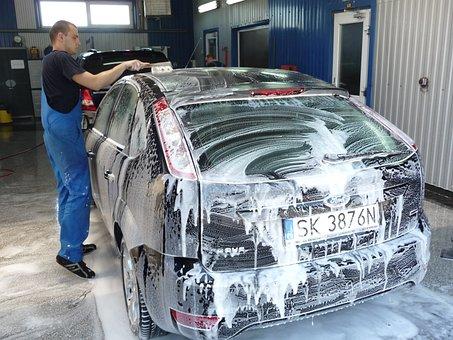 Auto, Washing, Car, Wax, Foam, Wash