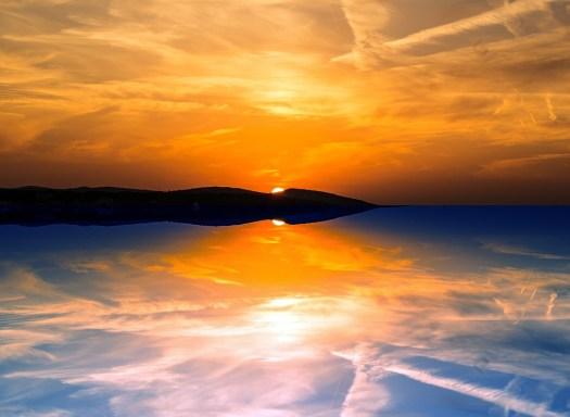 Serata, Riflessione, Tramonto, Cielo, Mare, Nuvole
