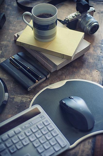 Free Photo Coffee Coffee Mug Pen Notebook Free Image
