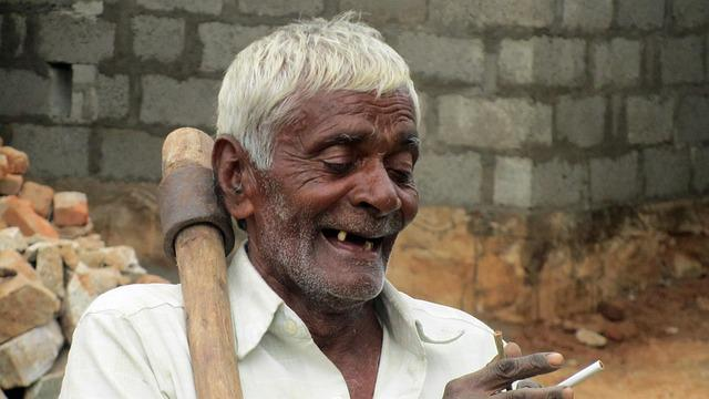Free Photo Old Man Toothless Satisfied Free Image On