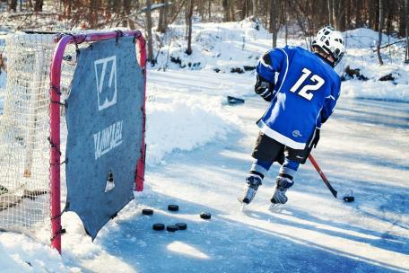 Ice Hockey, Hockey Player, Young, Winter, Ice, Outdoor