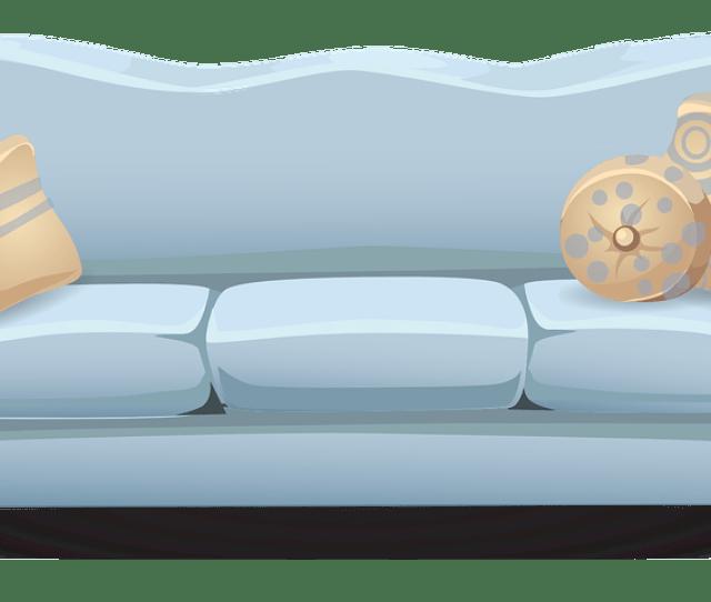 Couch Sofa Blue Pillows Cushions Seating Seat  C B Public Domain