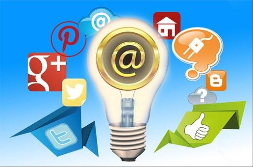 make a living online- Email, Communication, Social Media logos