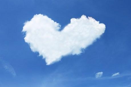 Nuage, Coeur, Ciel, Bleu, Blanc, Amour, Luck, Fidélité