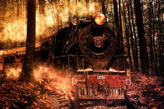 Free Photo Locomotive Composition Photoshop Free