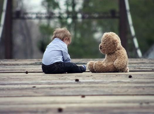 Bambino, Teddy Bear, Ascolta, Giocattolo, Teddy, Orso