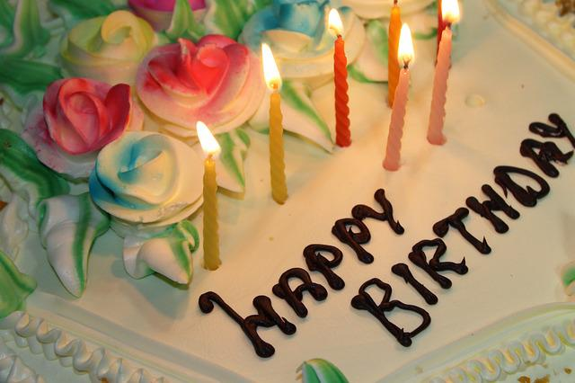 Free Photo Birthday Cake Candles Sweet Free Image On