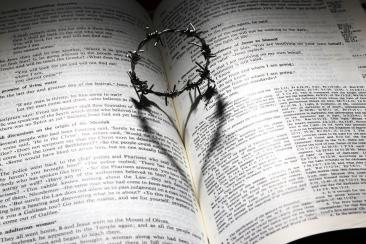 愛, 死亡, クロス, いばら, クラウン, 中心部, 聖書, シャドウ, イースター, グッドフラ イデー