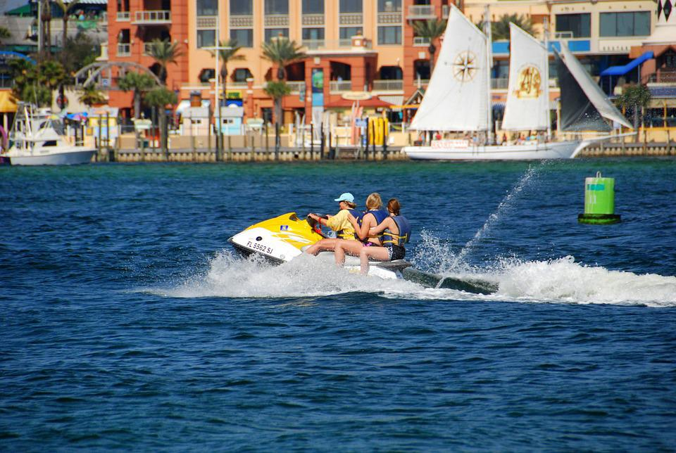 水スクーター, 休暇, ライフスタイル, 楽しい, 夏, 休日, 幸せ, 人, 幸福, レジャー, 水, 海