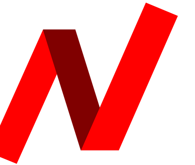 Letter N Word Red Strip Created By Paper