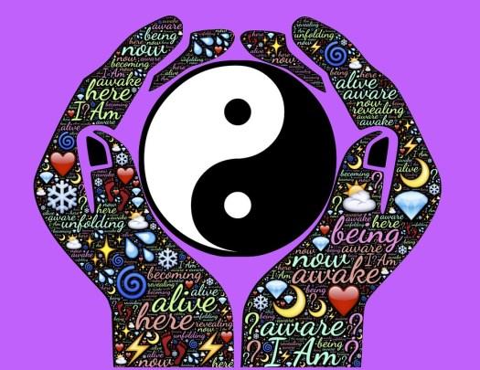 Vivo, Sveglio, Consapevole, Mani, Yin, Yang, Dualità