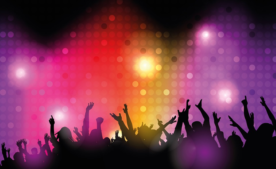 Dance Club, Disco, Lighting, Spotlight, Red, Yellow