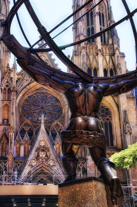 St Patrick'S Cathedral, New York, Manhattan, City