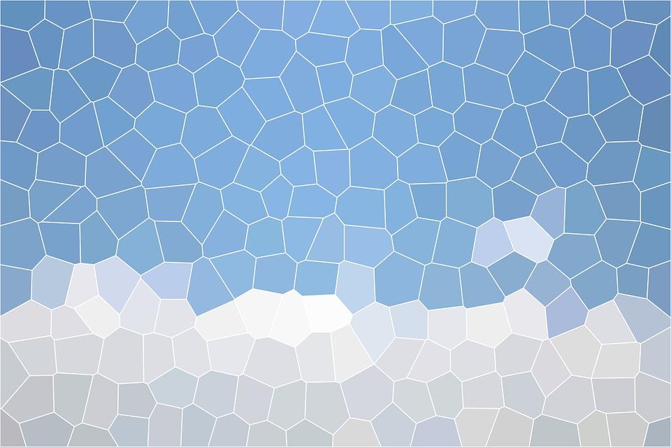 马赛克, 背景, 结构, 模式, 纹理, 表面, 马赛克瓷砖, 蓝色, 白, 天空, 云
