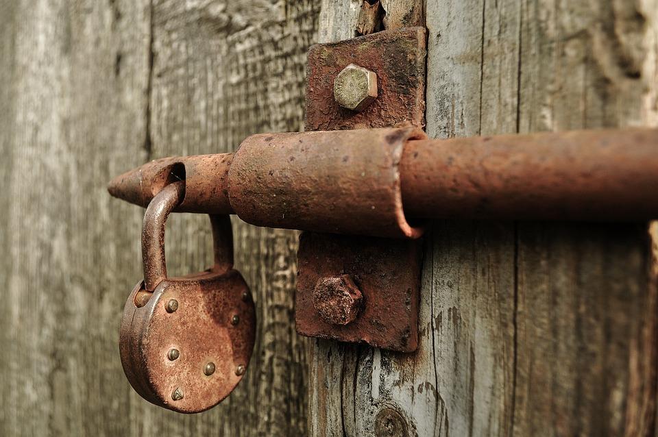 Free Photo Lock Rusted Barn Shed Iron Free Image On