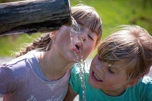 Human, Children, Girl, Blond, Water