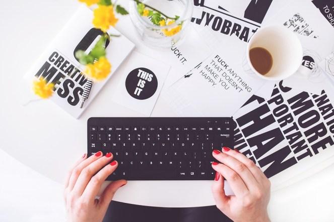 Menina, Mulher, Digitação, Escrito, Blogger, Blogar