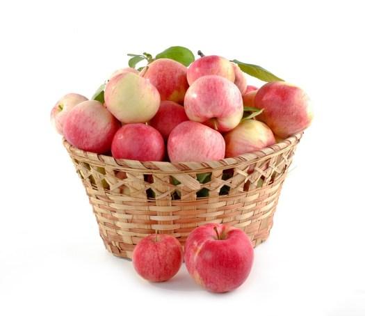 Mele, Cestino Pieno, Impostare, Colture, Cibo, Frutta