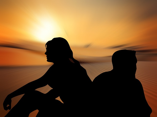 Silhouettes Femme LHomme Dos Image Gratuite Sur Pixabay