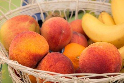 桃, フルーツ, フルーツバスケット, 熟した, 果物, 食品, 食べる, 甘い