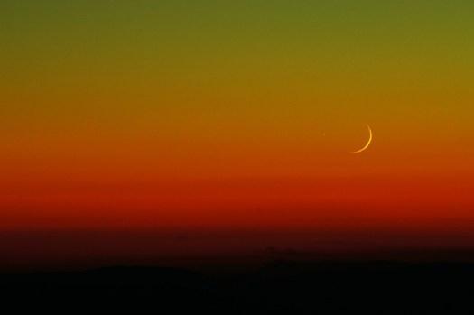 Luna, Hue, Astronomia, Natura, Tramonto, Sunrise, Notte