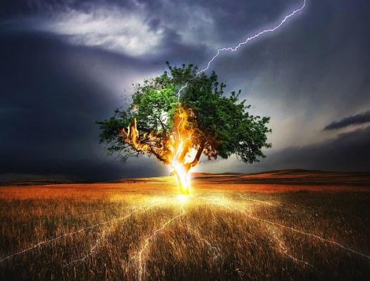 Flash, Trama Fulmine, Impatto, Meteo, Tempesta, Cupo