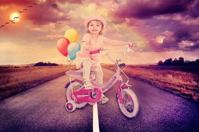 Baby Girl, Cycling, Road