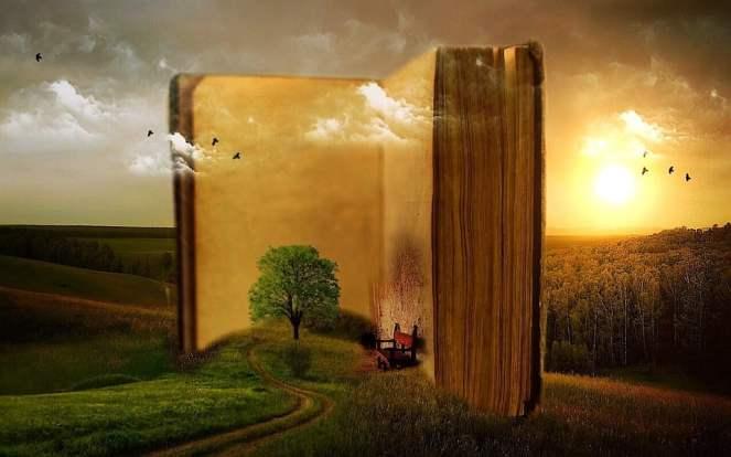 Livro, Idade, Nuvens, Árvore, Aves, Banco, Rush