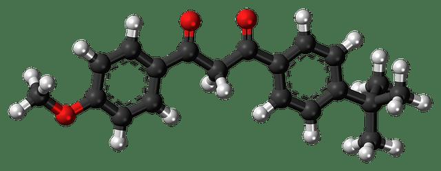 Avobenzone, Samengestelde, Molecuul, Bal, Stok, Model