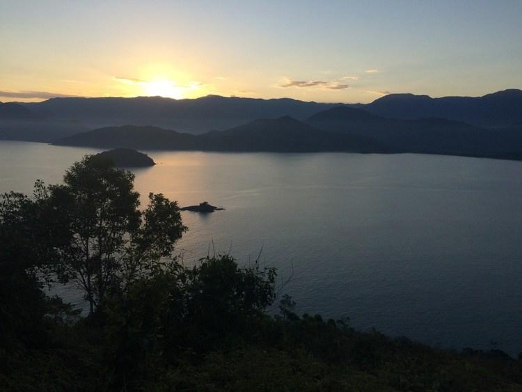 Ubatuba, Por Do Sol, Serra, Paisagem, Turismo