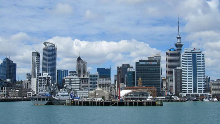 Auckland, Nova Zelândia, Cidade, Torre, Arquitetura