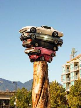Cars, Tower, Art, Modern, Bizzar, Urban